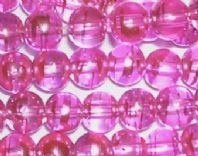 "36"" Drawbench glass round beads 6mm  Pink"
